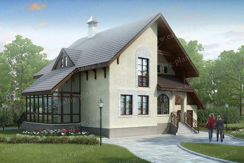 Проект жилой дом #34-23 материал - кирпич, стиль современный