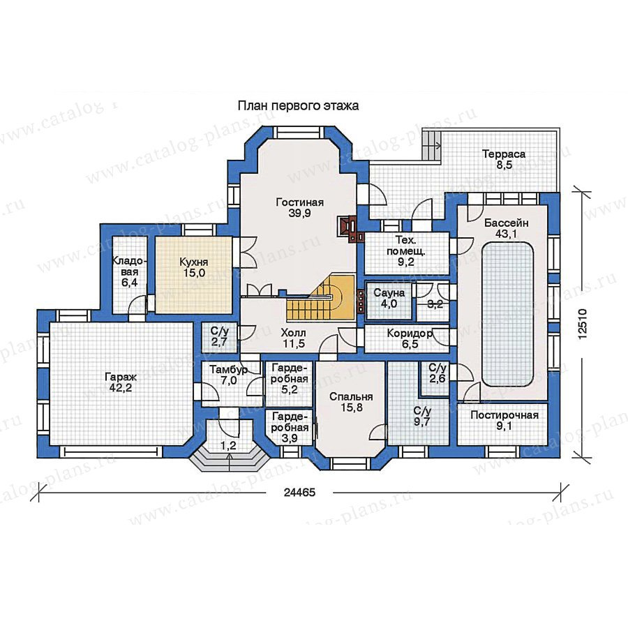 План 1-этажа проекта 34-71