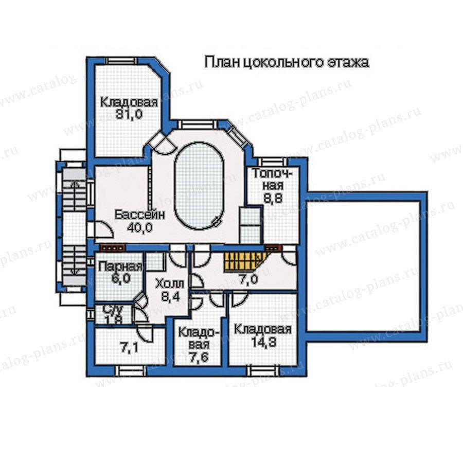 План 1-этажа проекта 34-67