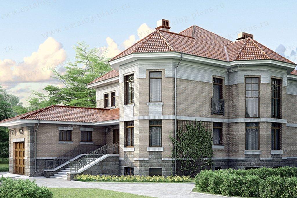 Проект жилой дом #34-70 материал - кирпич, стиль европейский