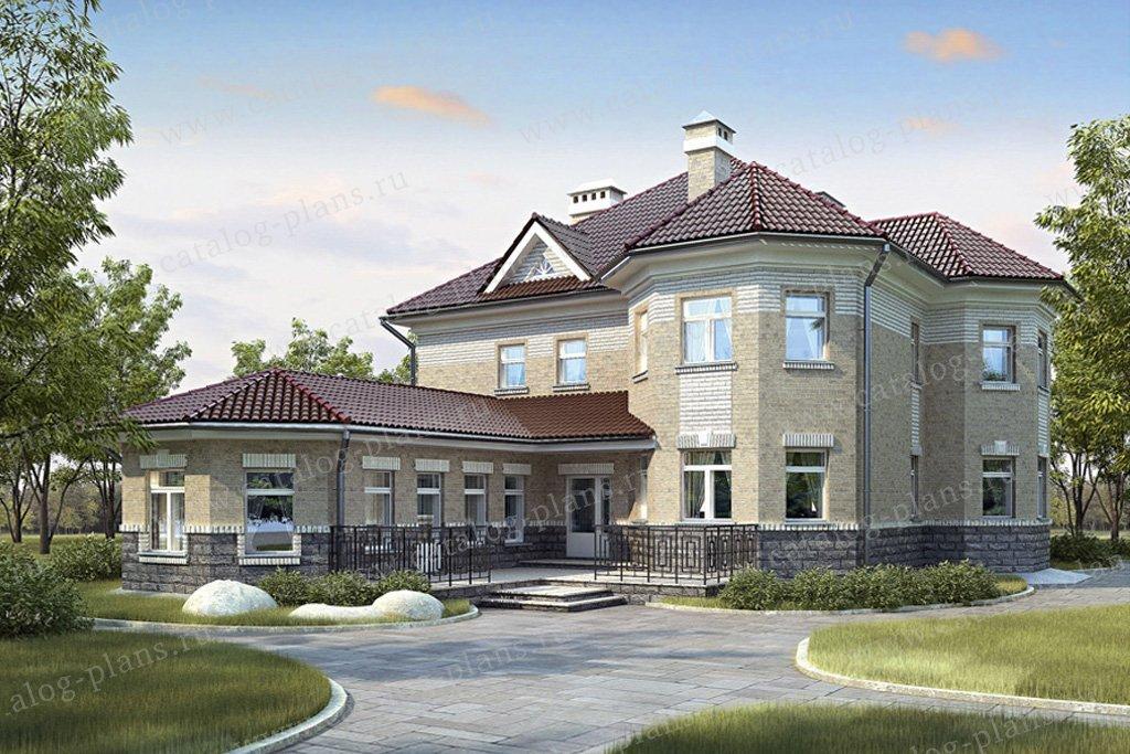 Проект жилой дом #34-50 материал - кирпич, стиль европейский