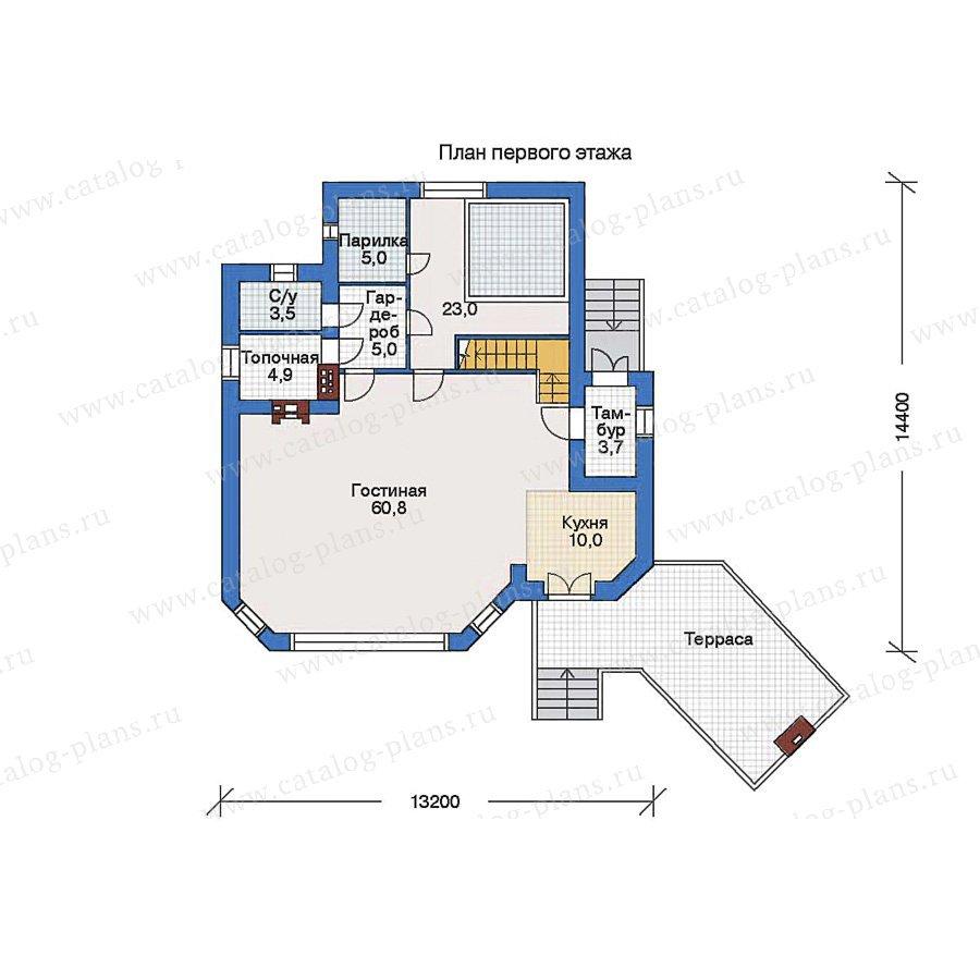 План 1-этажа проекта 34-36