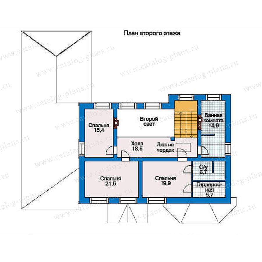 План 2-этажа проекта 34-48