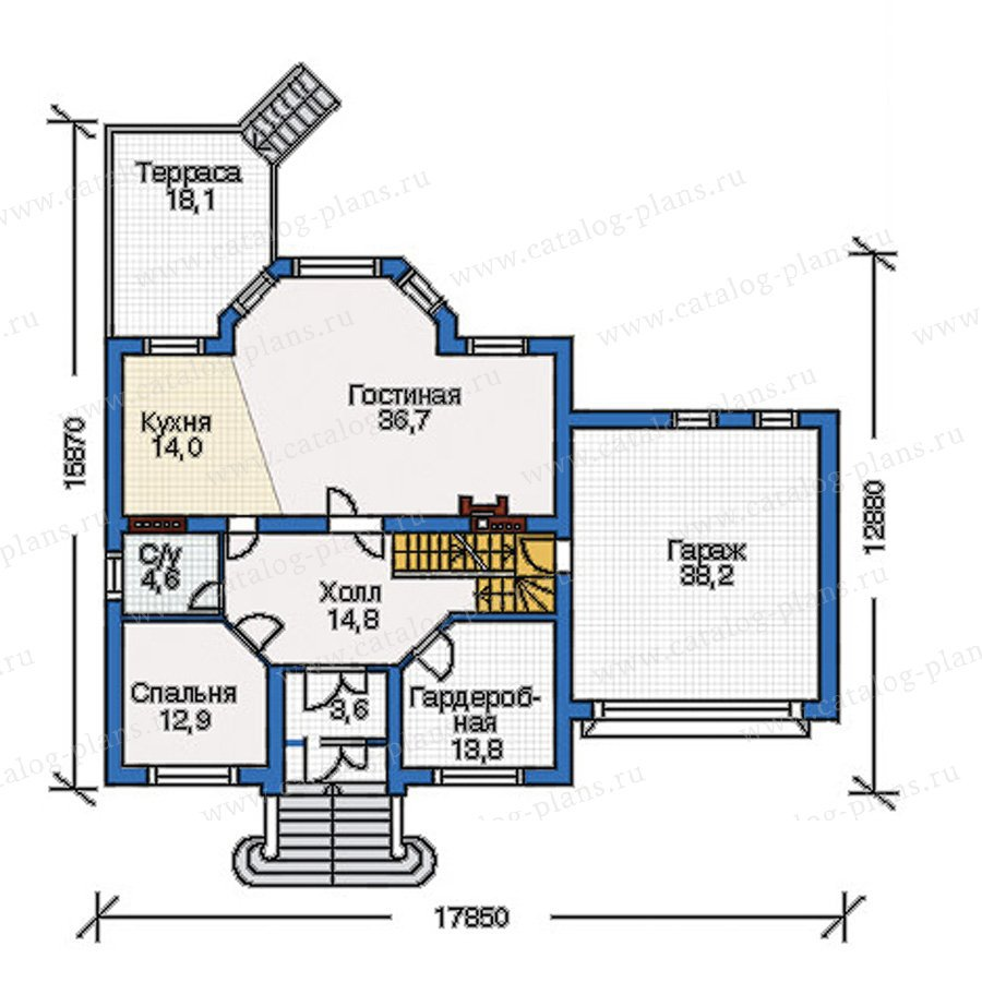 План 2-этажа проекта 34-67