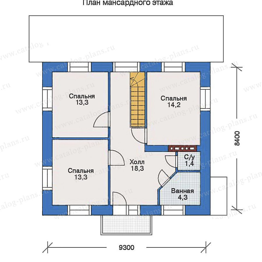 План 2-этажа проекта 34-57