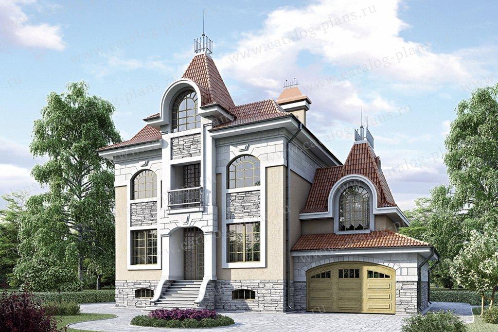 Проект жилой дом #34-67 материал - кирпич, стиль английский