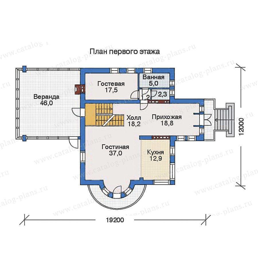 План 2-этажа проекта 34-89