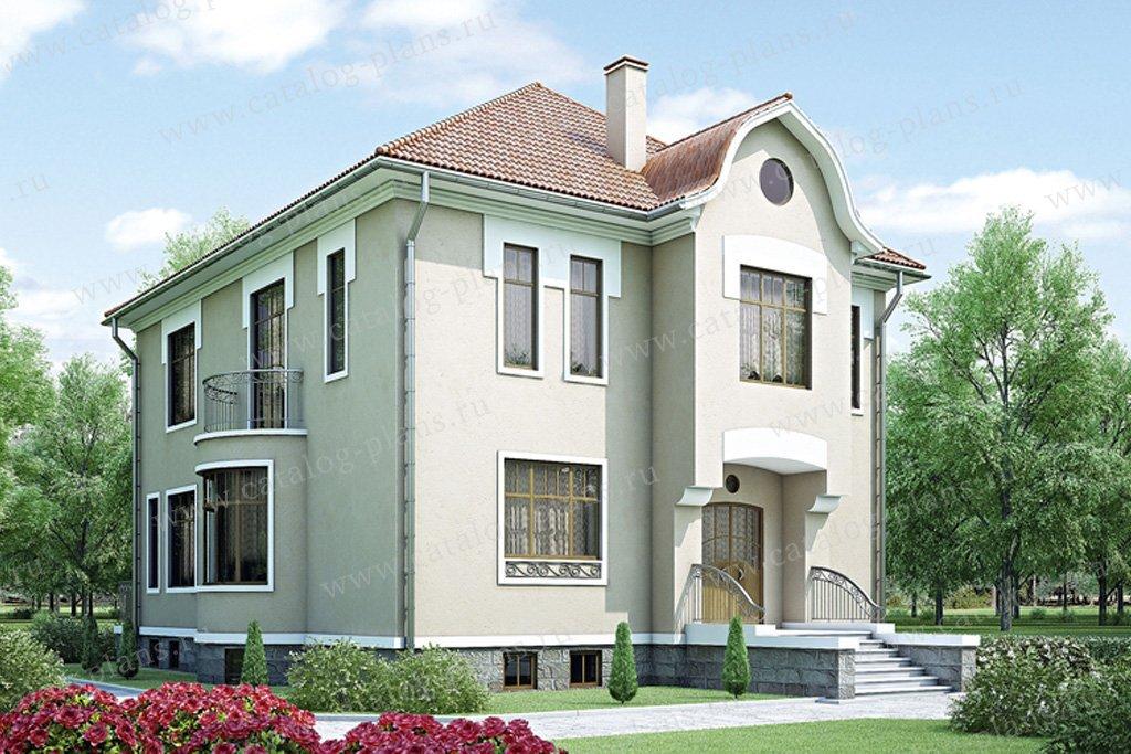 Проект жилой дом #34-80 материал - кирпич, стиль классический