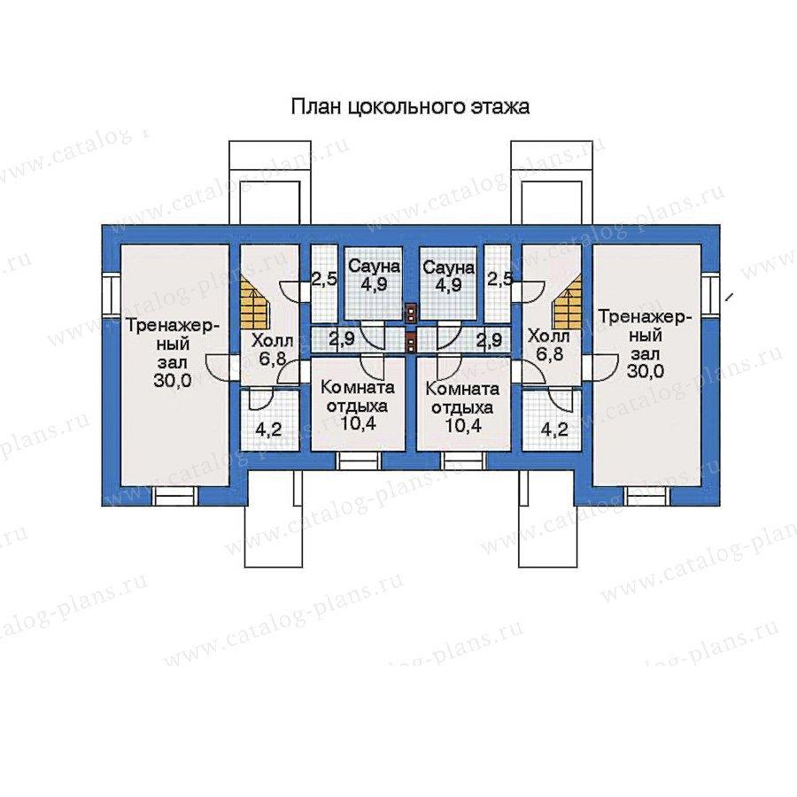 План 1-этажа проекта 34-77