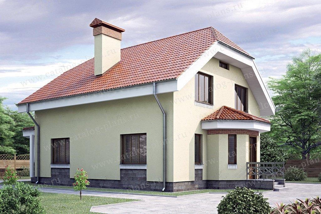 Проект жилой дом #34-79 материал - кирпич, стиль европейский
