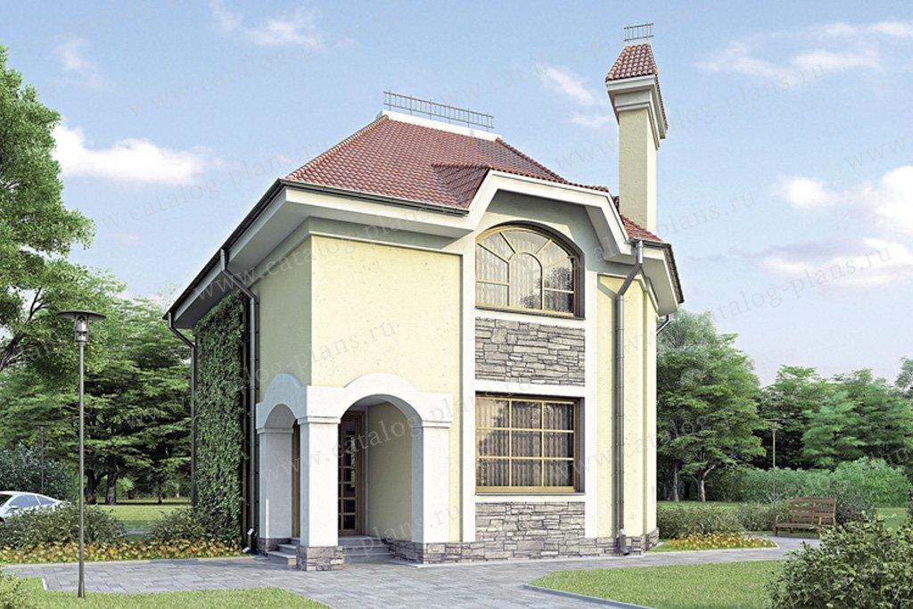 Проект жилой дом #34-72 материал - кирпич, стиль классический