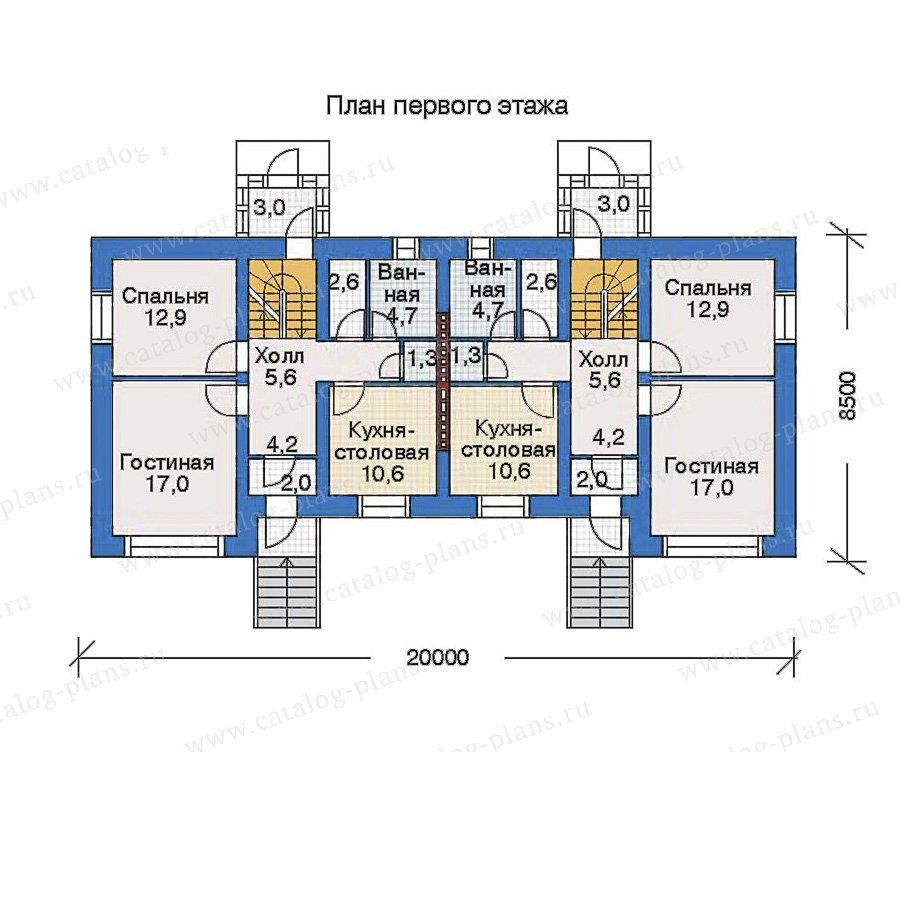 План 2-этажа проекта 34-77