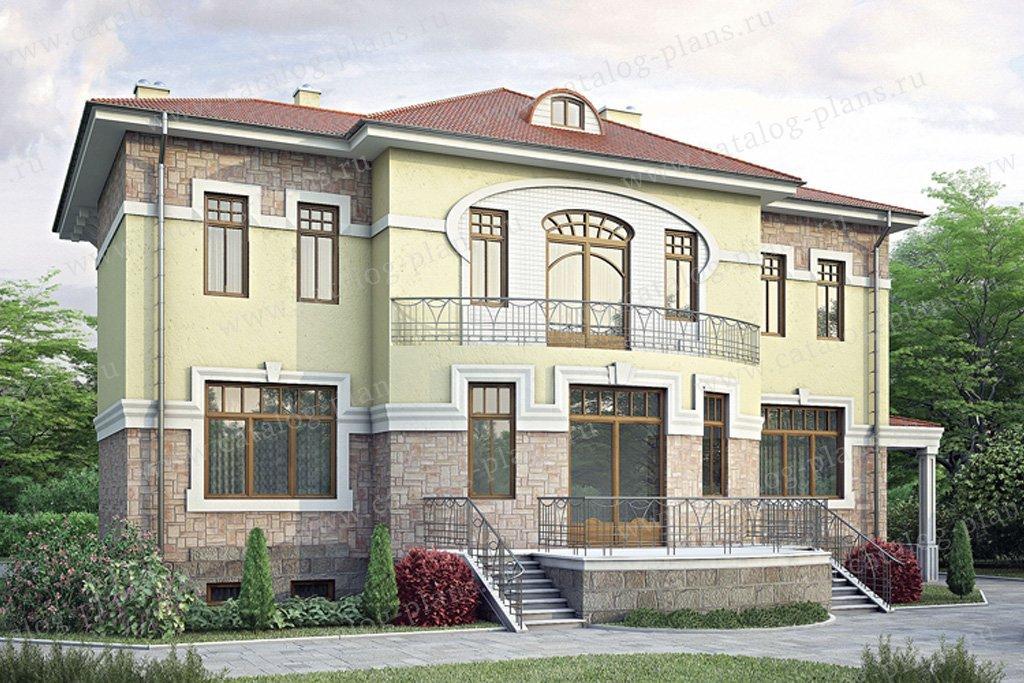 Проект жилой дом #34-76 материал - кирпич, стиль классический