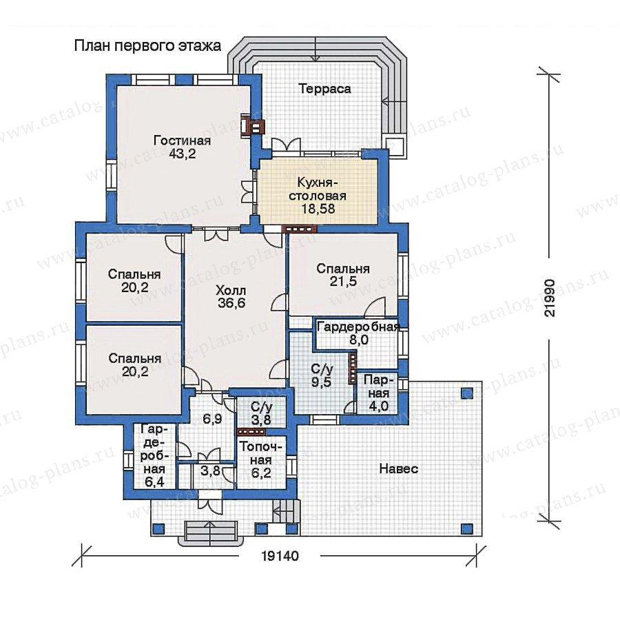 План 1-этажа проекта 34-66
