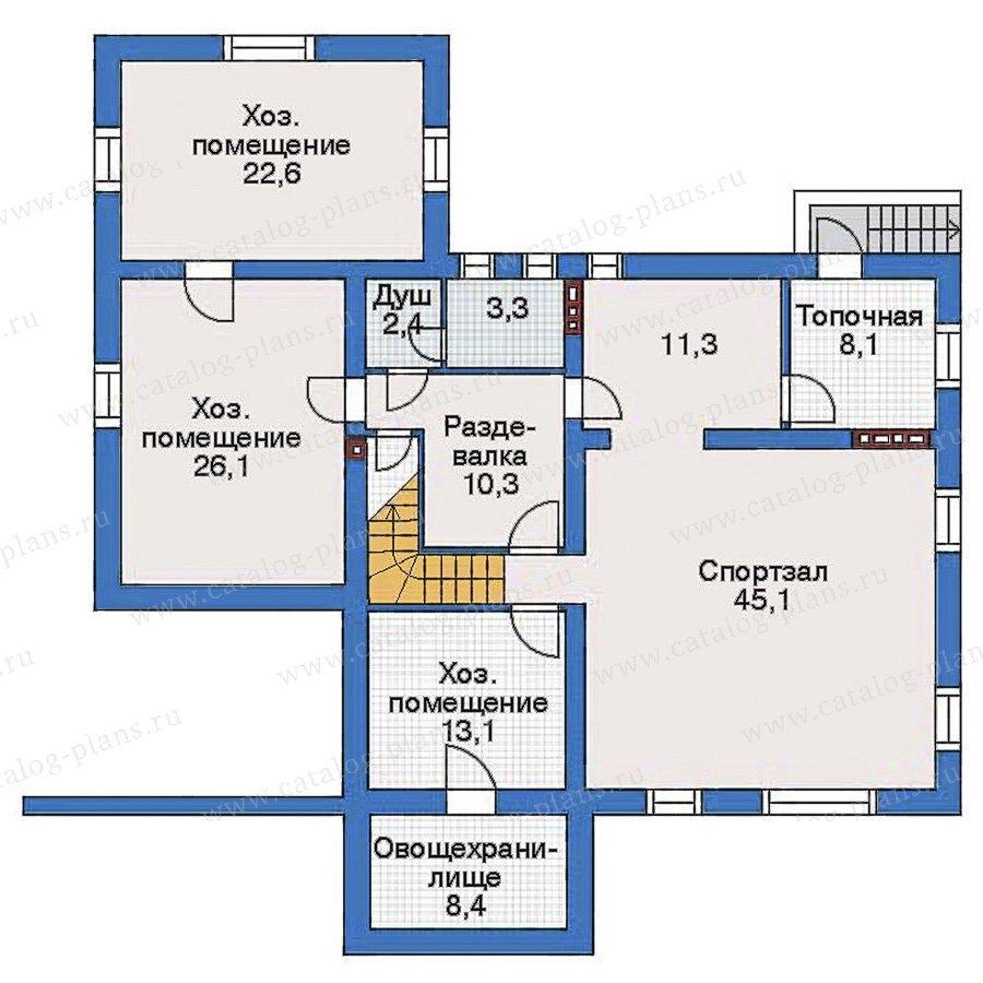 План 1-этажа проекта 34-91
