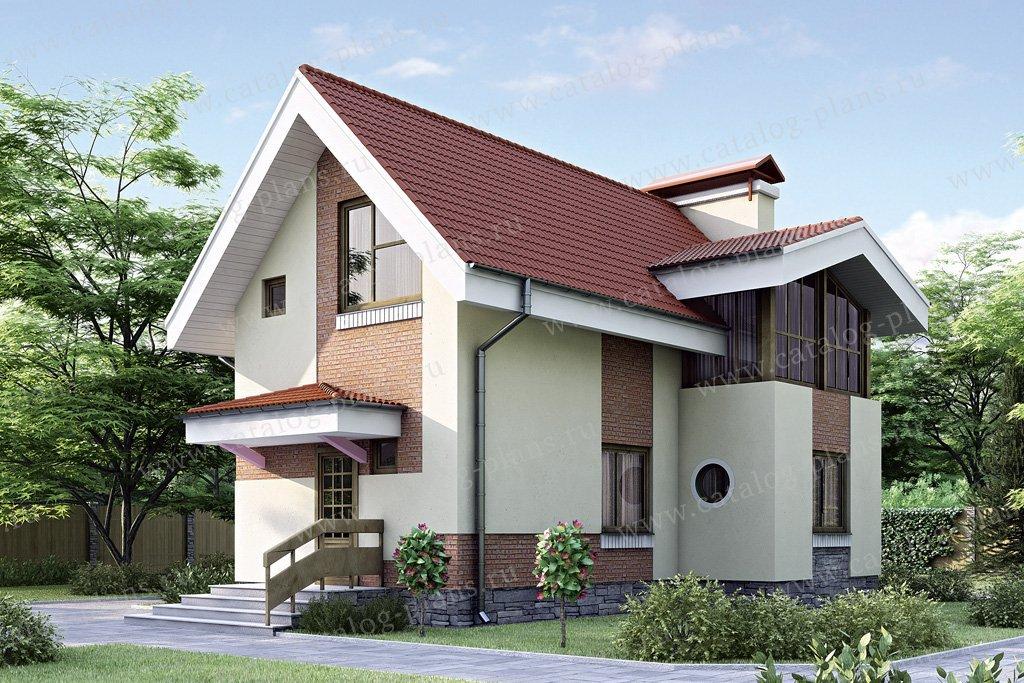 Проект жилой дом #34-62 материал - кирпич, стиль европейский