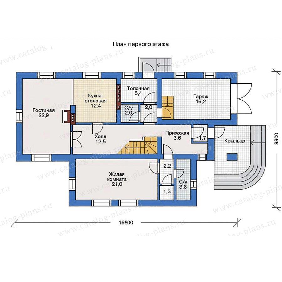 План 1-этажа проекта 34-98
