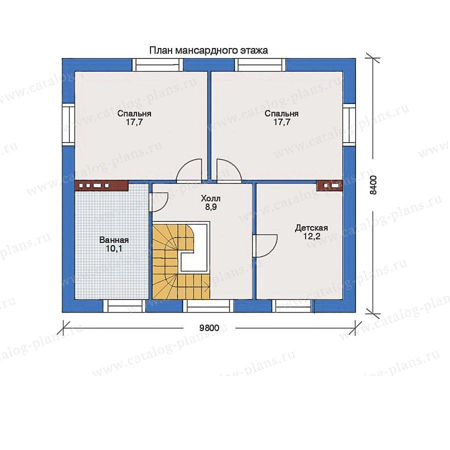 План 2-этажа проекта 34-64
