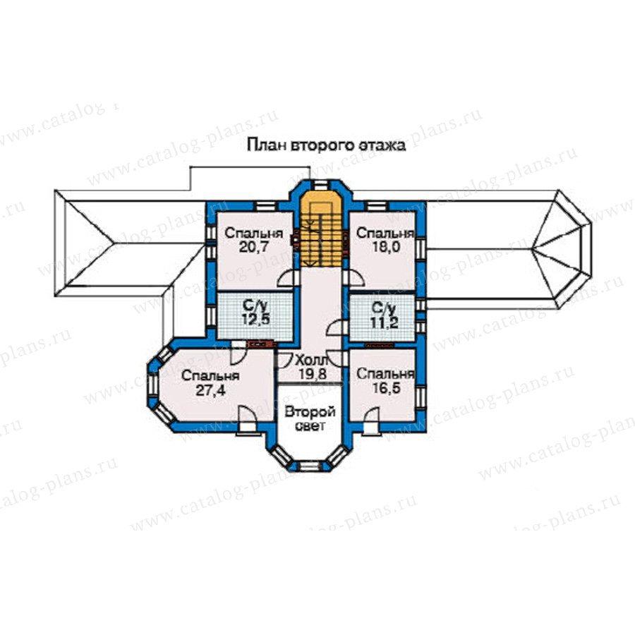 План 3-этажа проекта 34-70