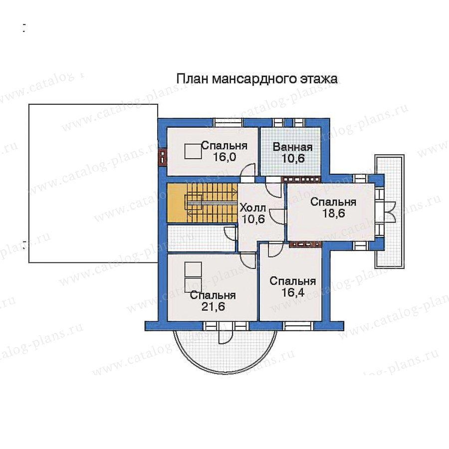План 3-этажа проекта 34-89