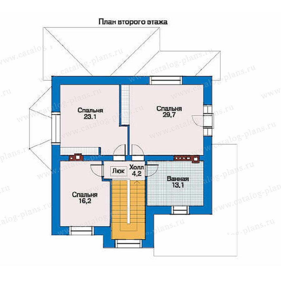 План 2-этажа проекта 34-51