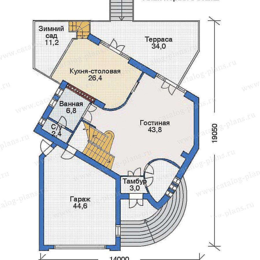 План 2-этажа проекта 34-37