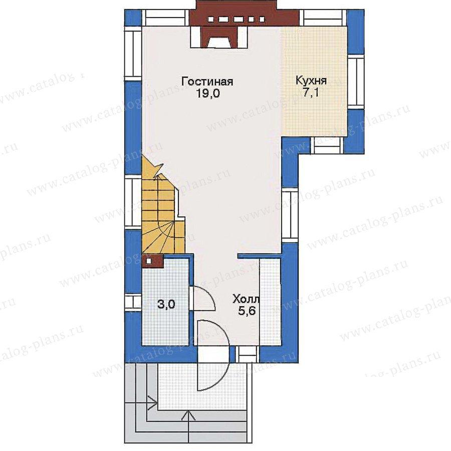 План 1-этажа проекта 34-62