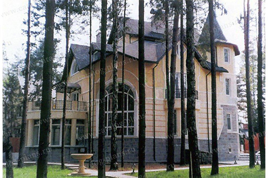 Проект жилой дом #34-21 материал - кирпич, стиль средневековый
