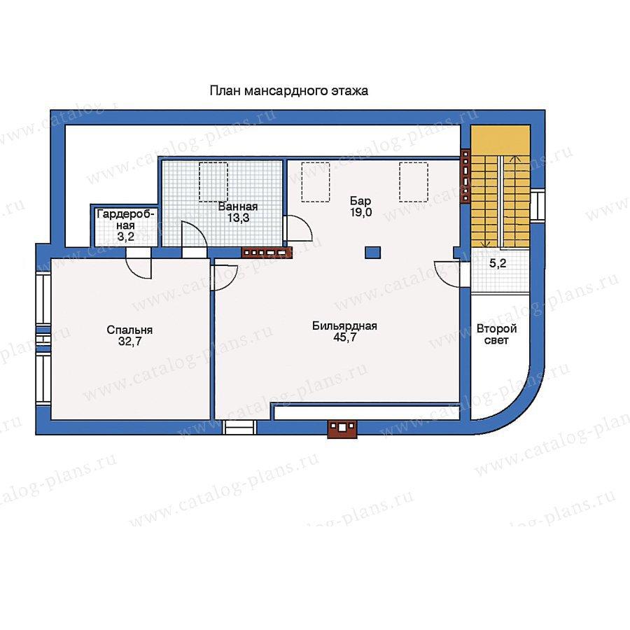 План 2-этажа проекта 34-43