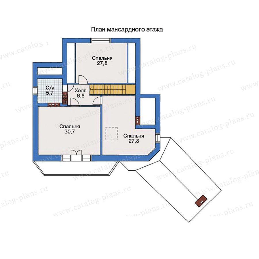 План 2-этажа проекта 34-36