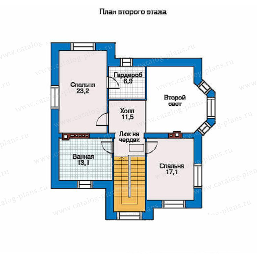 План 2-этажа проекта 34-53