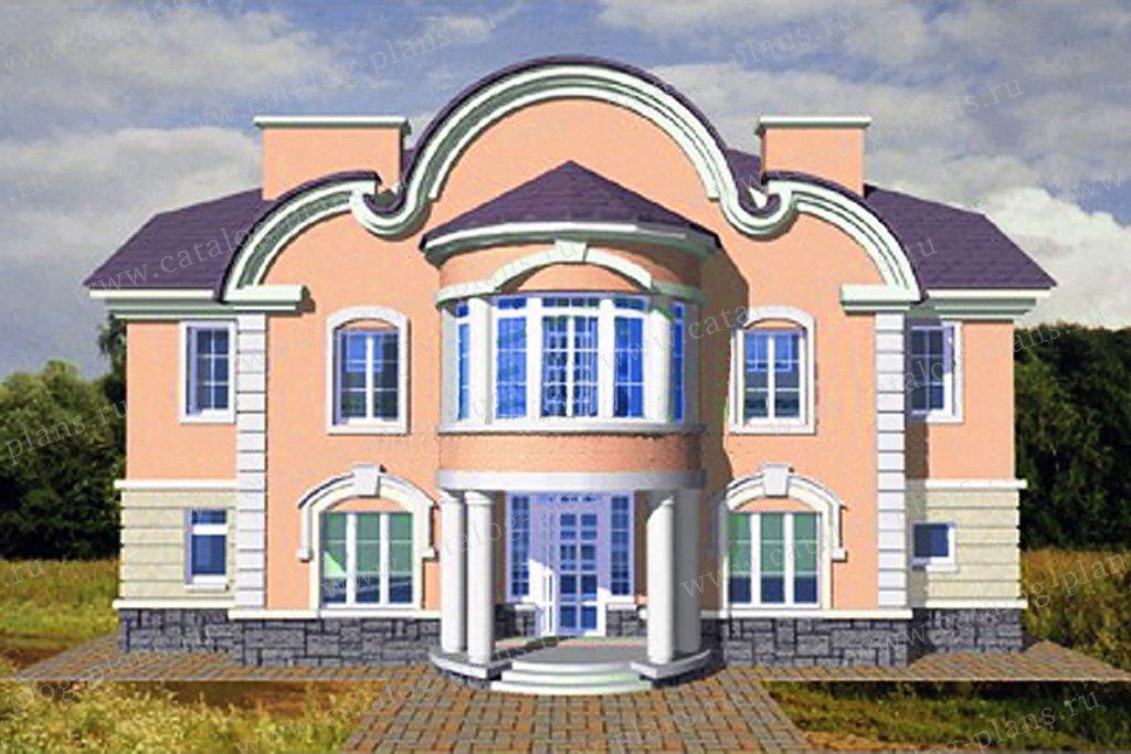 Проект жилой дом #34-09 материал - кирпич, стиль рококо