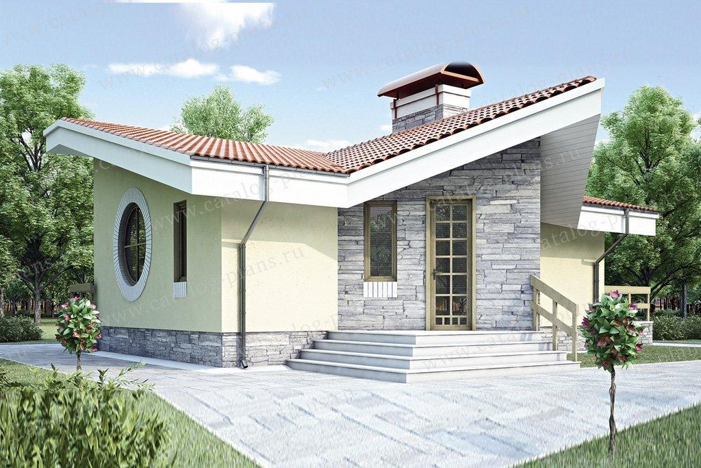 Проект жилой дом #34-99 материал - кирпич, стиль современный