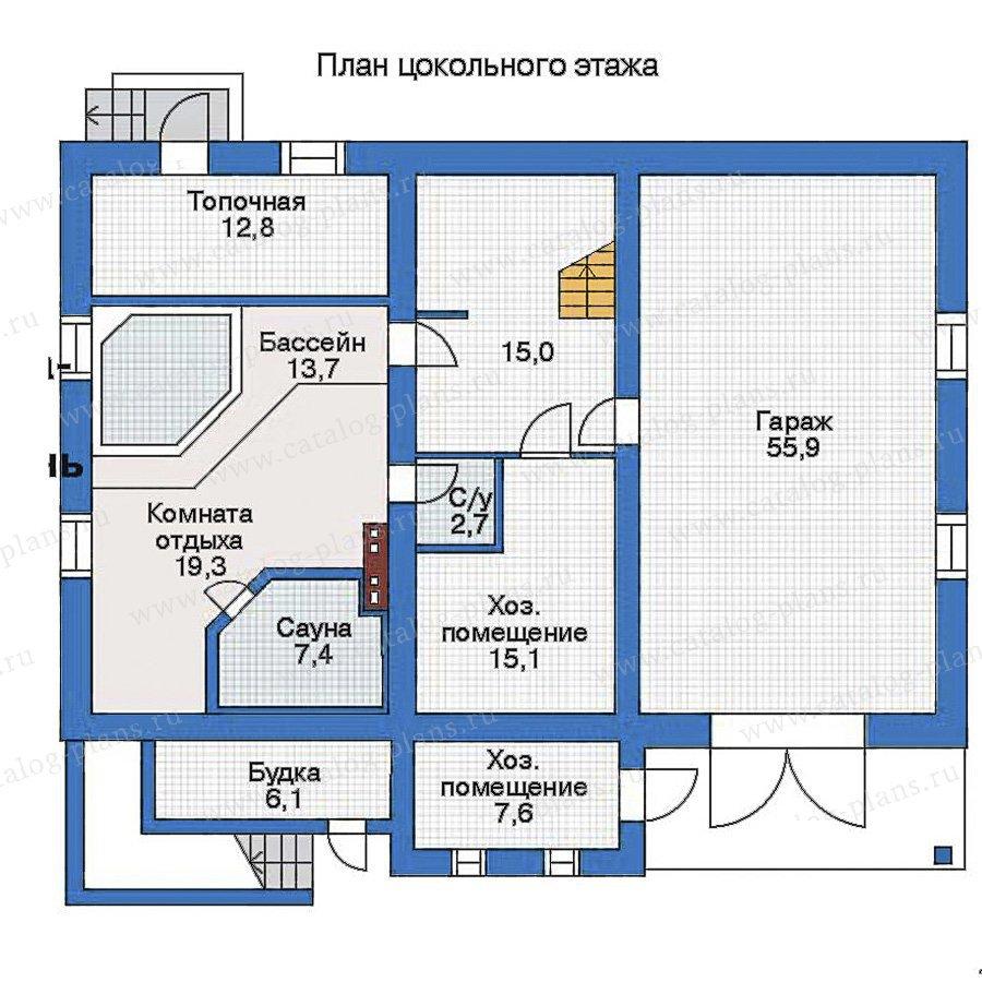 План 1-этажа проекта 34-84