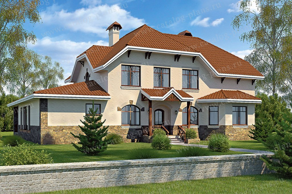 Проект жилой дом #34-48 материал - кирпич, стиль немецкий