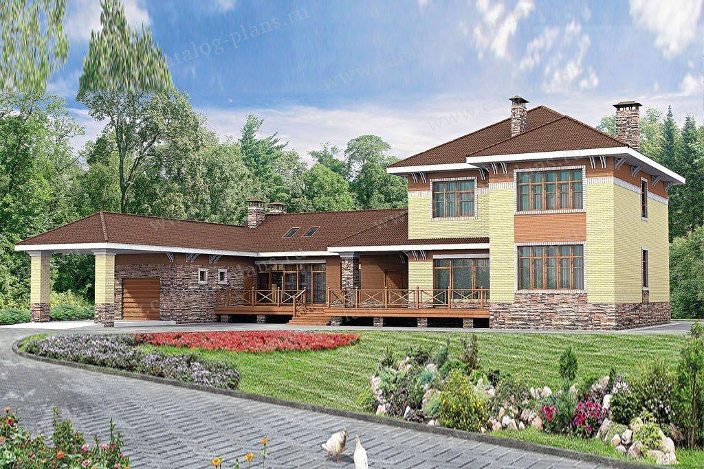 Проект жилой дом #33-33 материал - кирпич, стиль европейский