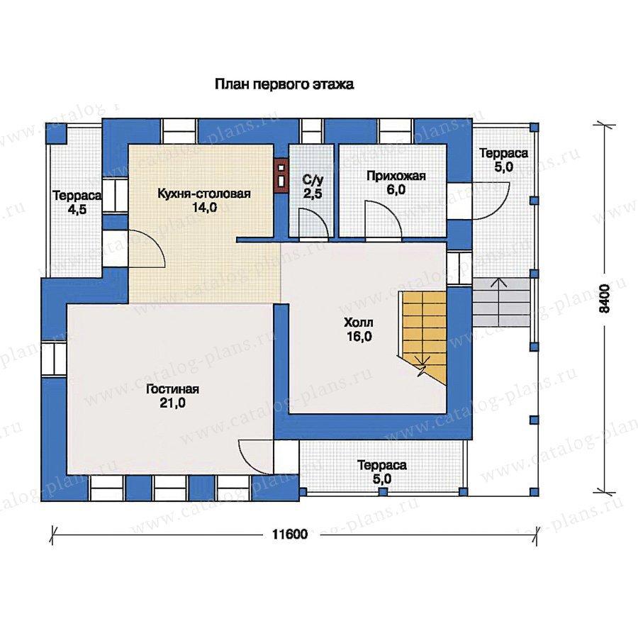 План 1-этажа проекта 33-56