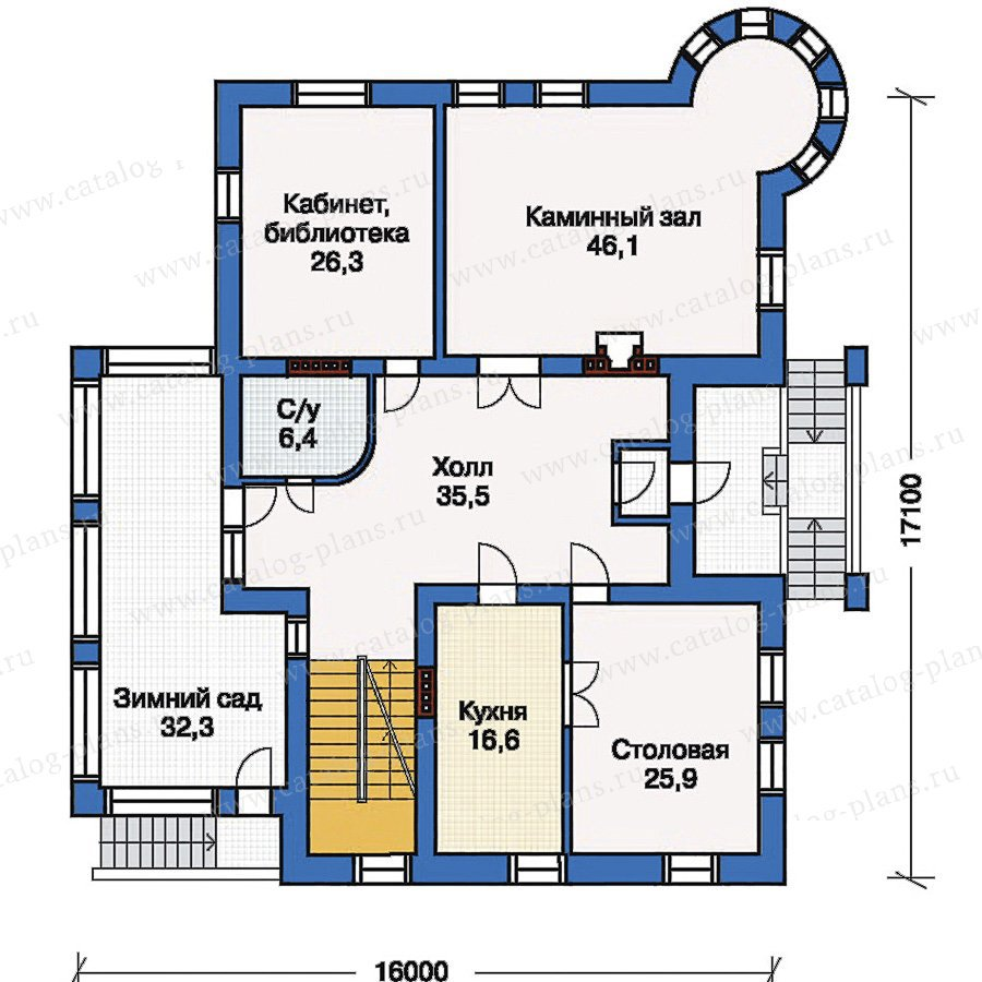 План 2-этажа проекта 33-35