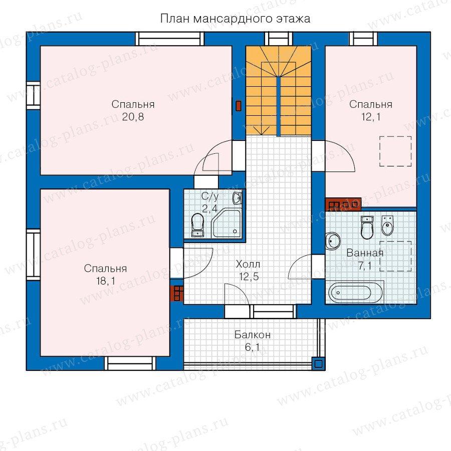 План 2-этажа проекта 60-21