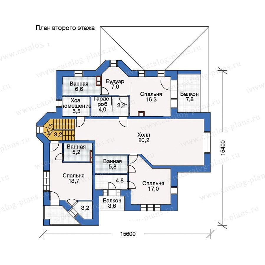 План 2-этажа проекта 33-67