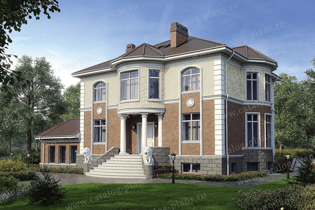 Проект жилой дом #33-90 материал - кирпич, стиль классический