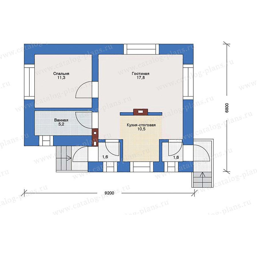 План 1-этажа проекта 33-71