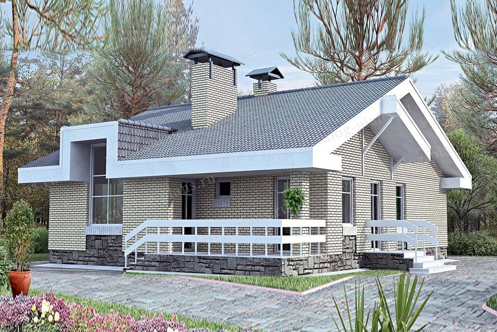 Проект жилой дом #33-69 материал - кирпич, стиль современный