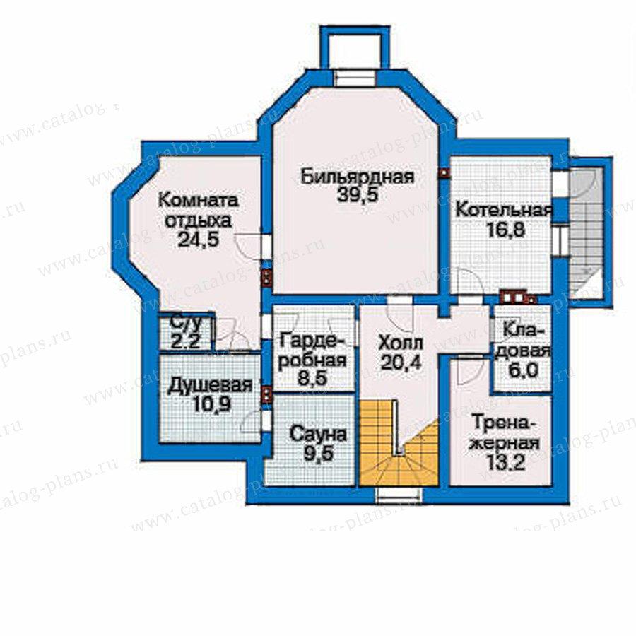 План 1-этажа проекта 33-52