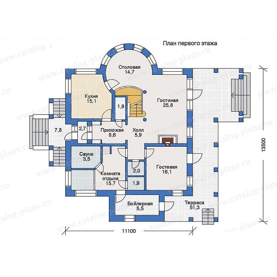 План 1-этажа проекта 33-24