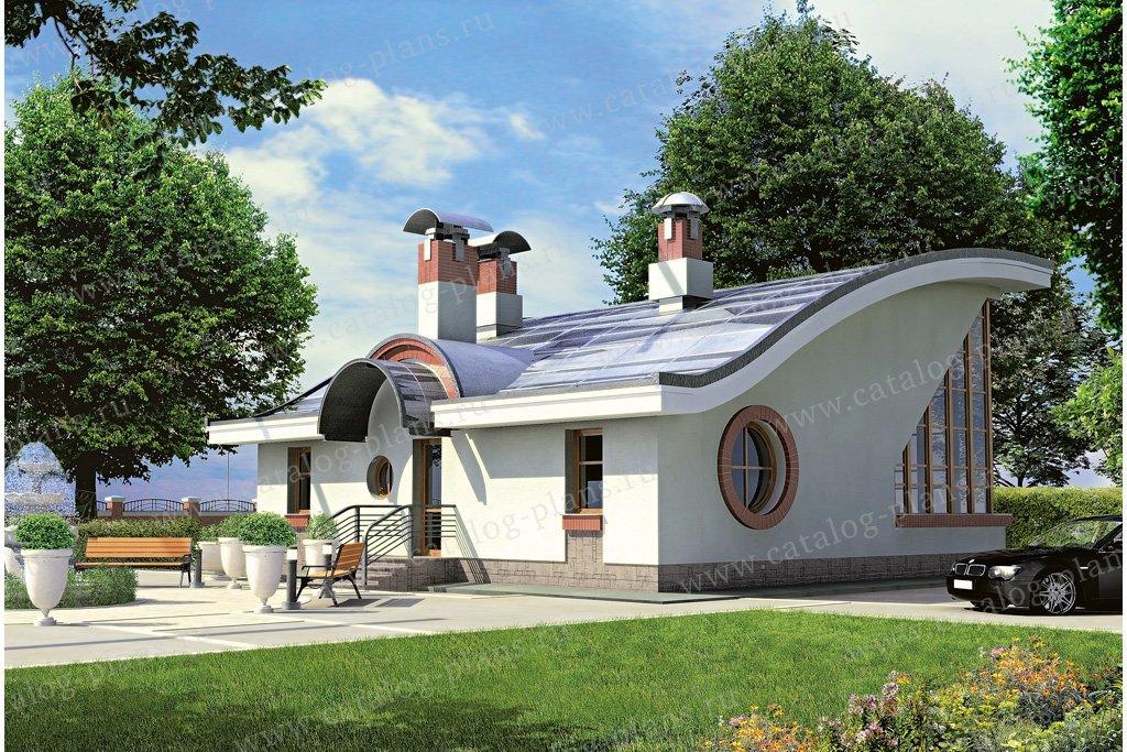 Проект жилой дом #33-04 материал - кирпич, стиль хай-тек