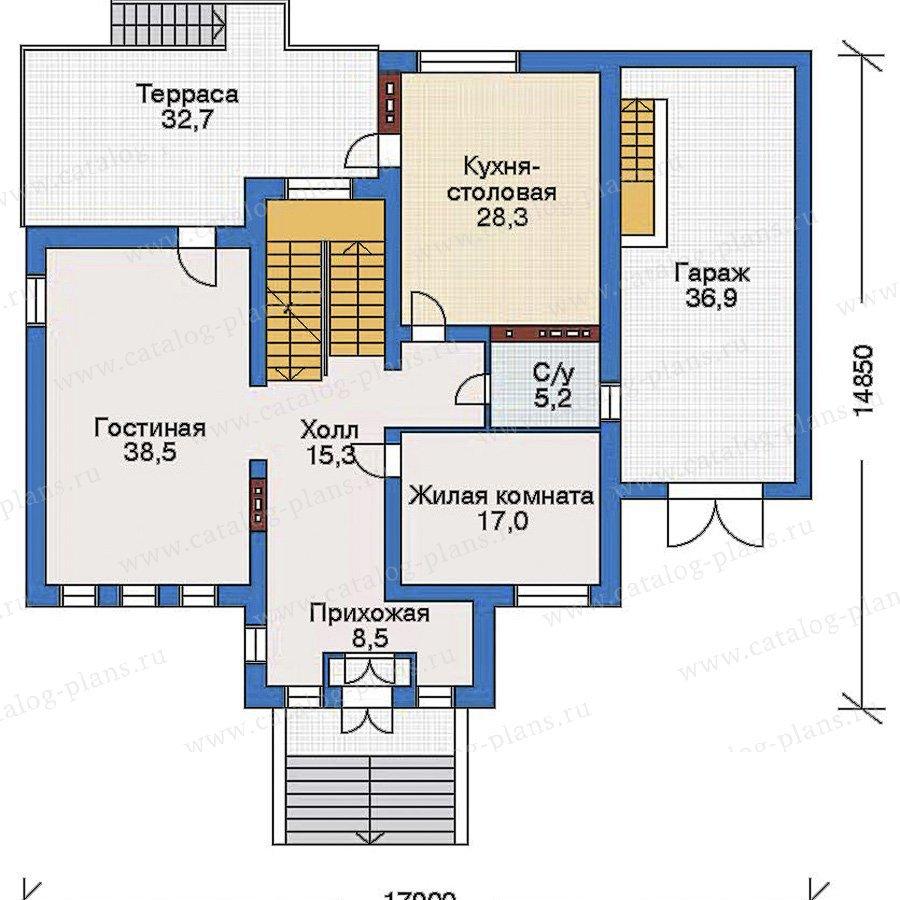 План 2-этажа проекта 33-53
