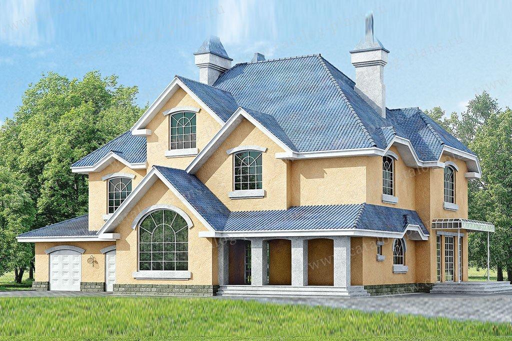 Проект жилой дом #33-25 материал - кирпич, стиль европейский