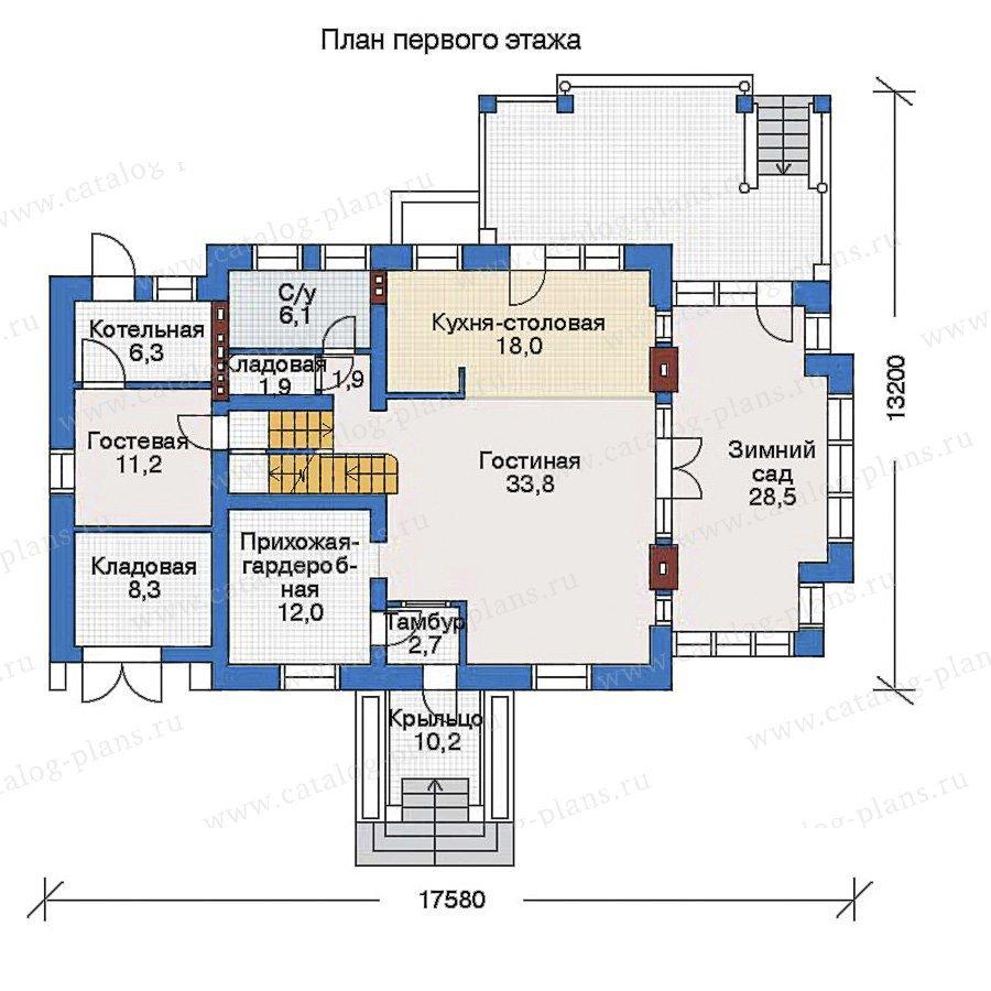 План 2-этажа проекта 33-46