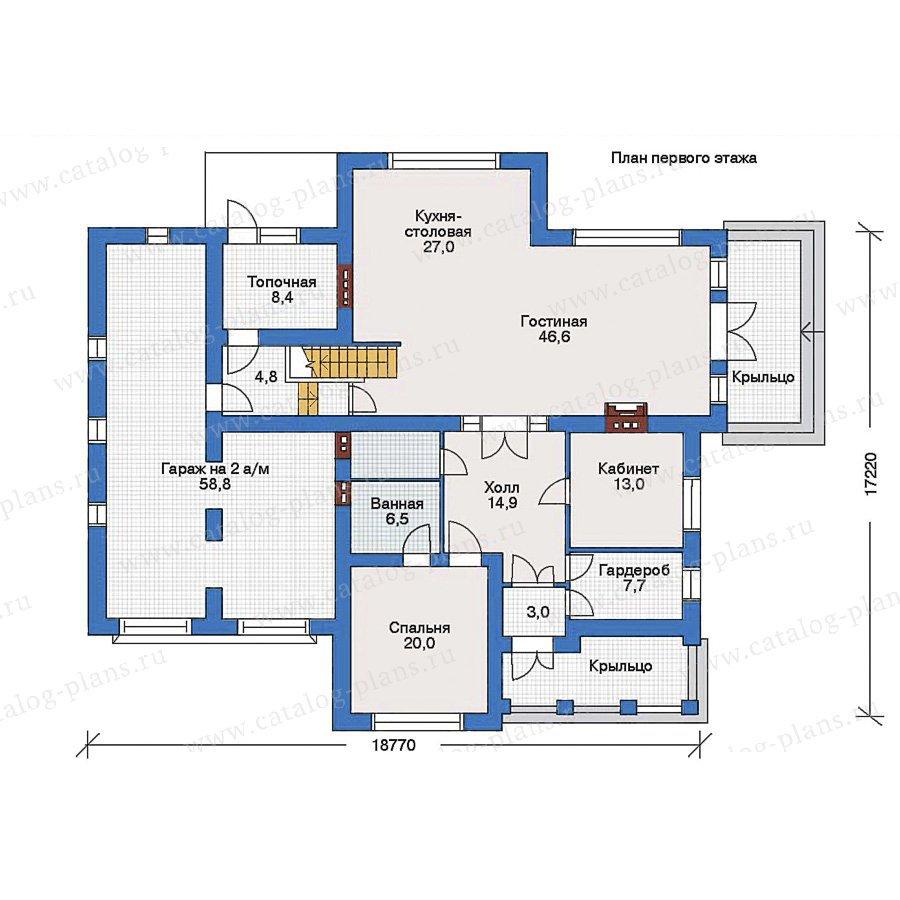 План 1-этажа проекта 33-25